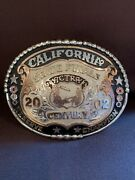 Champion Trophy Rodeo Sterling Silver Gold Filled Team Roping Belt Buckle