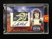 Sally Ride Sts-7 Panini Signature Autograph Card W/ Stamp And Swatch Relic Ltd 50