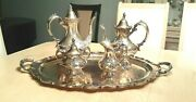 Reed And Barton King Francis Gorgeous Silverplate Coffee/tea Pot Set - 5 Pieces.