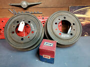 Jeep Willys Nos Pair 10 Brake Drums Part 994306 Cj-5 Jeepster Commando101