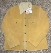 Vintage Clothing Western Wear Suede Sherpa Jacket Italy Made L 1495 Nwt