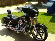 Tsukayu Batwing Gps Fairing For Harley H-d Fld Dyna Switchback Black