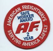 American Freightways Safe 2 Year Patch Serving America Safely 3-3/8 Dia 1236