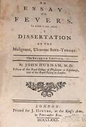 1772 An Essay On Fevers John Huxham M.d. Hb Book Rare Stated Seventh Edition
