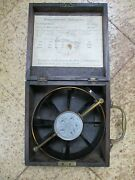 Large Boxed Victorian Mining Anemometer By Tb Winter Ex Medomsley Colliery