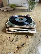 """Lot Of 20 """"jukebox"""" 45 Rpm Vinyl Records From Late 1970's"""