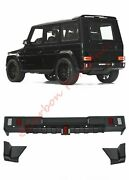 W463 Rear Bumper Full Set With Led And Diffuser Brabus Style Mercedes-benz G-class