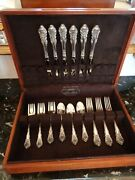 1936 Wallace Sir Christopher 24 Pcs For 6 Sterling Silver Flatware Set And Chest