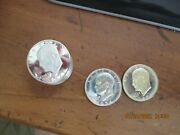 9 1971-s Eisenhower Silver Dollars Bu Proof 40 Silver And 2 1974s Pr