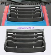 1x Real Carbon Fiber Front Cover Decoration Plate For Ford F-150 F150 2017-2021