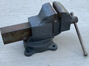 Vintage Prentiss Bulldog No 265 Vise In Great Condition - 96 Lbs 5-inch Jaws