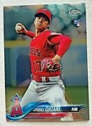 Shohei Ohtani 2018 Topps Chrome Update Rookie Card Hmt1 Pitching Angels Rc