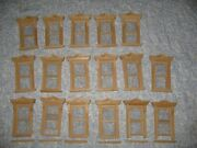 17 Vintage Dollhouse Victorian Working Unfinished Wood Windows
