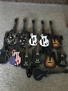 Lot Of 12 Wireless Guitars For Ps3 Xbox 360 Wii - See Details For List -untested