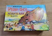 Vintage Marx Noahand039s Ark Miniature Playset With Box Open Box Complete