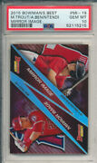 Psa 10 2015 Bowmanand039s Best Mike Trout Andrew Benintendi Mirror Image