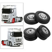 2 Pcs Rc Car 85mm Rubber Tyres Set Fit For Tamiya 1/14 Tractor Truck Rc Car