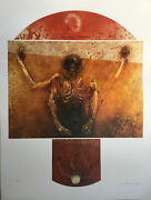 Judith Mason Attwood South African Artist Andldquomonkey Shrineandrdquo 5 Signed Lithographs