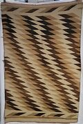Indigenous Navajo - Hand Woven Saddle Blanket - Antique Native American Textiles