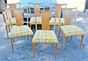 Set Of 6 Paul Frankl For Brown-saltman Dining Chairs