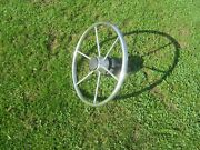 Vintage Stainless Steel Sail Boat Steering Wheel 16 W/hub And Shaftbuy Now-offer