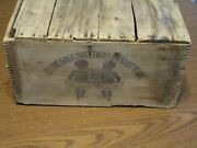 Vintage Fairbanks Washing Powder Large Wooden Crate Gold Dust Twins 30 In. Long