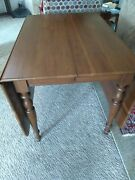 Harden Solid Cherry Drop Leaf Table Sheraton Style Farmhouse Style Made In Usa