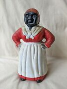 Hubley Cast Iron Mother Woman Coin Bank 11 Tall Excellent Condition