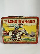 Vintage 1954 The Lone Ranger By Adco, Lunch Box. No Thermos.