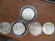 1971s Thru 1973s Uncirculated Silver 40 Eisenhower Ike Dollar. 5 Coins Total