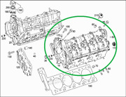 Mercedes Cl / S63 Amg W222 W217 - A1570105900 Cylinder Head Left. New
