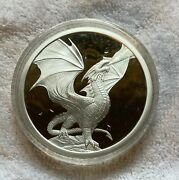 Anne Stokes Silver Dragon Bullion 5oz Noble Dragon With C.o.a.andnbsp Try Finding One.