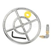 12 Inch 304 Stainless Steel Gas Propane Fire Pit Ring Burner With 150k Btu Valve