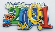 Disney Magnet 2001 Mickey Mouse Donald Duck Goofy Pluto Colorful