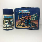 Vintage 1984 He-man Masters Of The Universe Lunchbox W/ Thermos Motu Skeletor