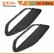 2pcs Black Leather Door Panel Insert Cards Cover For Ford Mustang 2005-2009