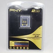 Pny Optima 2gb Sd Card P-sd2gb-fs Ultra High Speed Memory Factory Sealed