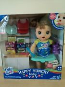 New Baby Alive Happy Hungry Baby Brown Hair Eat Drink Potty Interactive Doll