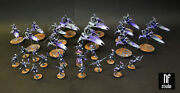 Wh40k Harlequin Army Skyweavers Starweaver Shadowseer Death Jester Commission