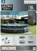 Intex 18ft X 52in Ultra Xtr Round Frame Above Ground Pool Set