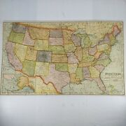 Madmar Dissected Map Puzzle Series No. 752 United States 12x20 Wood Complete