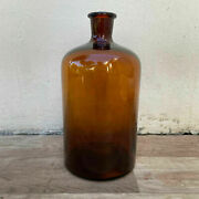 French Hand Blown Antique Apothecary Jar Bottles Amber 26072125