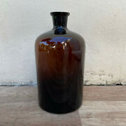 French Hand Blown Antique Apothecary Jar Bottles Amber 26072126