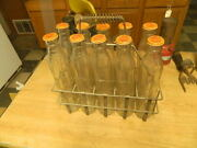 10 Complete Original Shell - Penn Oil Bottles And Caps With Carrier Rare
