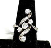 Antique Russian Rose Cut Diamond Ring In 14k Gold And Silver