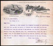 1902 Peru Electric Mfg Co Indiana R H Bouslog Porcelain And Metal - Letter Head