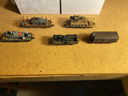Wwii German Railroad Cars With Tanks Cars Ho Scale Marklin, Roco, Lima Trident.