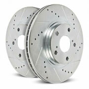 Power Stop Brake Rotors For Chevy Tahoe 1995-2000 Front Drilled And Slotted - Pair
