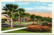 Vintage 1940and039s Hyde Park Residential House/homes Tampa Florida Fl Postcard