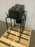Antique Burroughs Large Adding Bookkeeping Machine W/ Base And Electric Motor